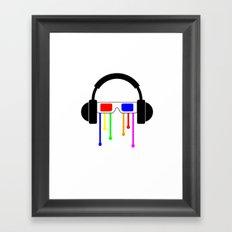 Technicolor tears  Framed Art Print