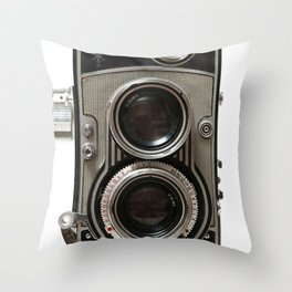 Vintage Camera 01 Throw Pillow