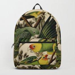 Vintage Parrot Illustration Backpack