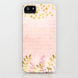 Orchid pink - golden rainforest iPhone Case