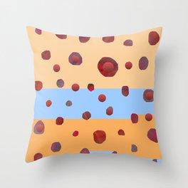 Red meteorites Throw Pillow
