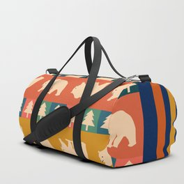 Multicolored bear pattern Duffle Bag