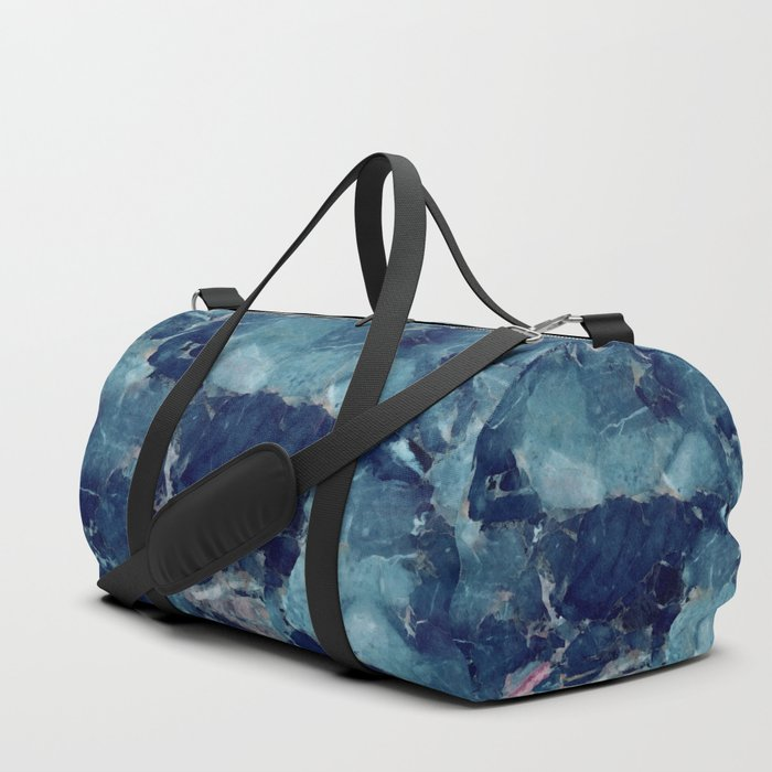 Blue marble texture Duffle Bag