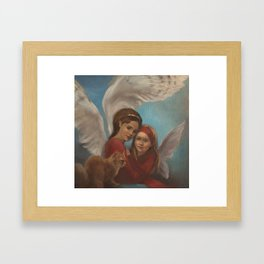 Angels in red. Framed Art Print