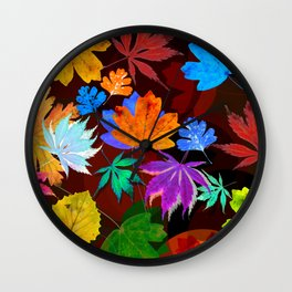 Leaves-001 Wall Clock