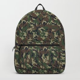 Woodland Forest Camouflage Pattern Backpack