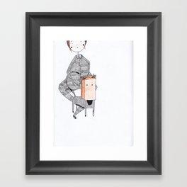 cat in a bag Framed Art Print