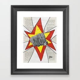 Super Awesome Fist Bumping! Framed Art Print