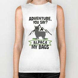 Alpaca My Bags  Travelling Biker Tank