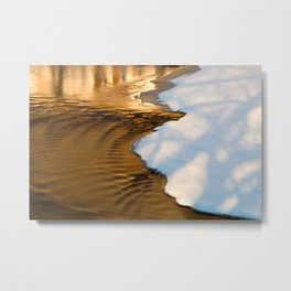 Gold Winter Stream Metal Print