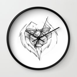 Angry Lion Wall Clock