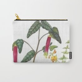 Vintage Botanical Hot Peppers Carry-All Pouch