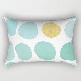 Aqua Pebbles & gold Rectangular Pillow