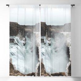 Gullfoss - Landscape Photography Blackout Curtain