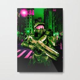 Cyberpunk Chief Metal Print