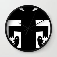 cyclops Wall Clocks featuring Cyclops by Jad Fair