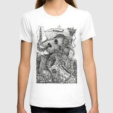 Beyond The Deepwoods Womens Fitted Tee White SMALL