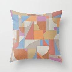 1 Inch Manila Grid Throw Pillow