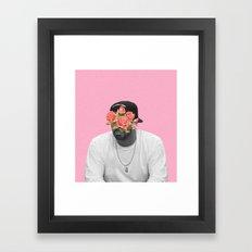 DRAKE // FLORAL Framed Art Print