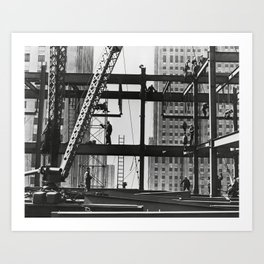 Steel workers New York City Art Print
