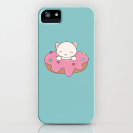 Kawaii Cute Cat Donut iPhone Case
