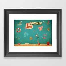 SUMMER TIME Framed Art Print