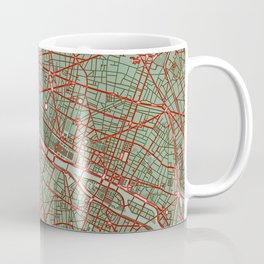 Paris city map pop Coffee Mug