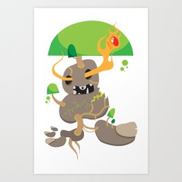 Swamp Elemental Art Print