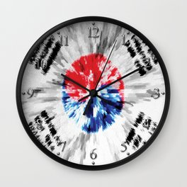 Extruded flag of South Korea Wall Clock