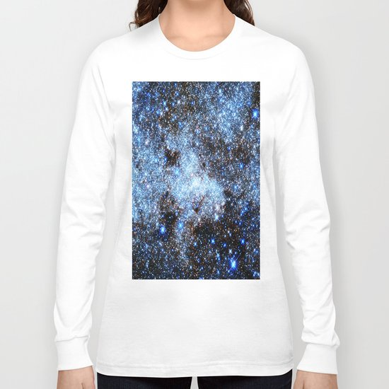 gAlaxY : Blue Sparkle Stars Long Sleeve T-shirt