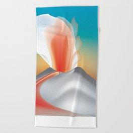 Hawaii Volcanoes National Park, Hawaii - Skyline Illustration by Loose Petals Beach Towel