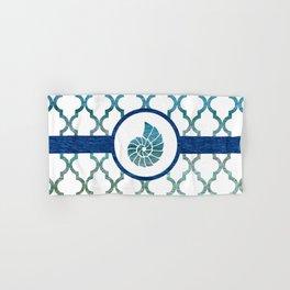 Seashell: Tropical Water Moroccan Pattern Hand & Bath Towel