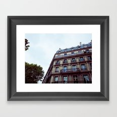PARISIAN FACADES. Framed Art Print
