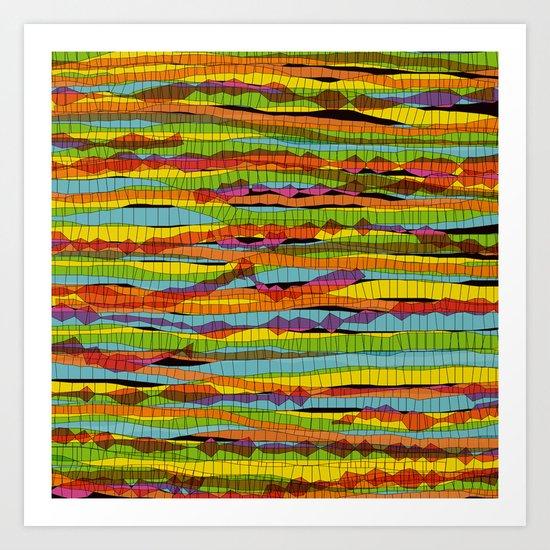 patterns - spaghettis 1 Art Print