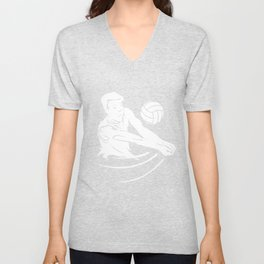 Beach volleyball game sport gift idea Unisex V-Neck