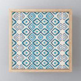 Blue Cuadri Framed Mini Art Print