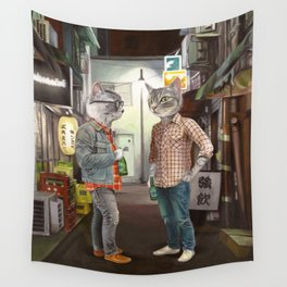 A Cats Night Out Wall Tapestry