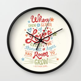 Sliver of Love Wall Clock