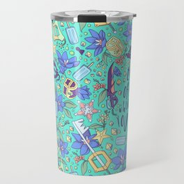 Kingdom Hearts Floral Travel Mug