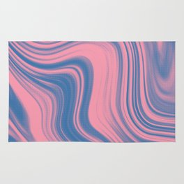 Liquid pink and blue Rug