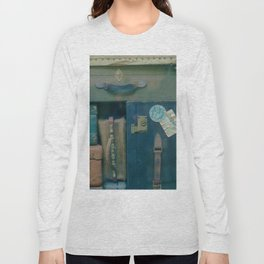 Vintage Suitcases (Color) Long Sleeve T-shirt