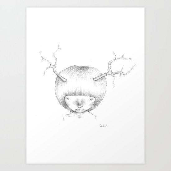 Tree Horns Art Print