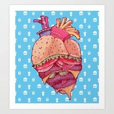 Inner Fast Food Art Print