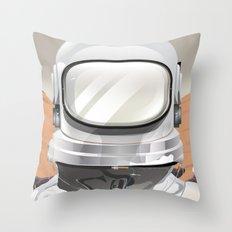 Man on Mars Throw Pillow