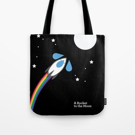 A Rocket to the Moon Tote Bag