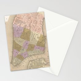 Vintage Map of New York City (1839) Stationery Cards