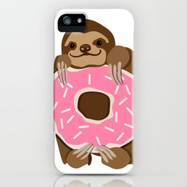Because Sloths AND Donuts iPhone Case
