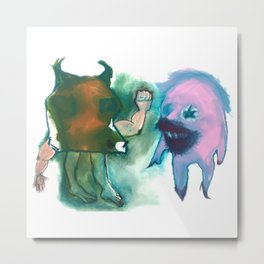 Making Fun of The Minotaur Metal Print
