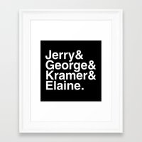 seinfeld Framed Art Prints featuring Seinfeld Jetset by Bill Pyle