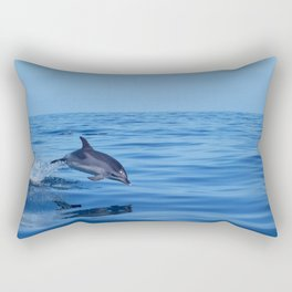 Spotted dolphin jumping in the Atlantic ocean Rectangular Pillow